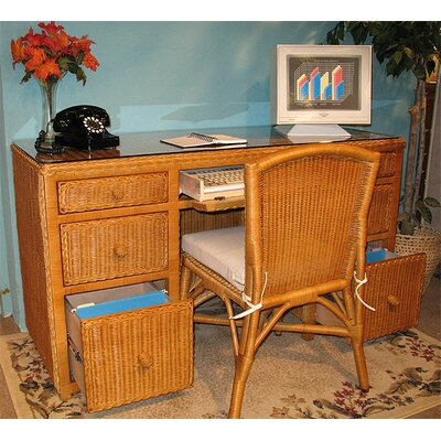 Wicker Warehouse 2-Piece Standard Desk Office Suite