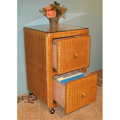 Wicker Warehouse 2-Drawer Mobile Vertical File