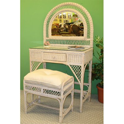 Wicker Warehouse Vanity Set with Mirror