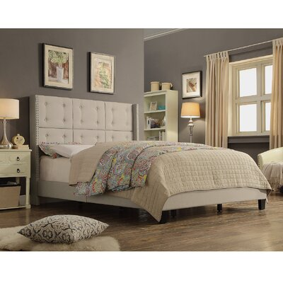 iNSTANT HOME Chica Queen Upholstered Panel Bed