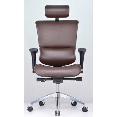 Conklin Office Furniture Vito High-Back Leather Executive Chair with Headrest