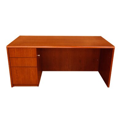 Carmel Furniture Waterfall Series Desk Shell with Pedestal