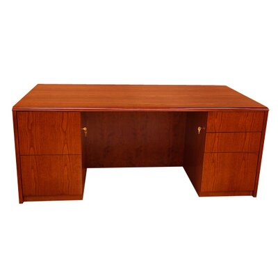 Carmel Furniture Waterfall Series Executive Desk with Double Pedestals