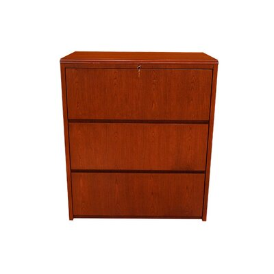 Carmel Furniture Waterfall Series 3-Drawer Lateral File