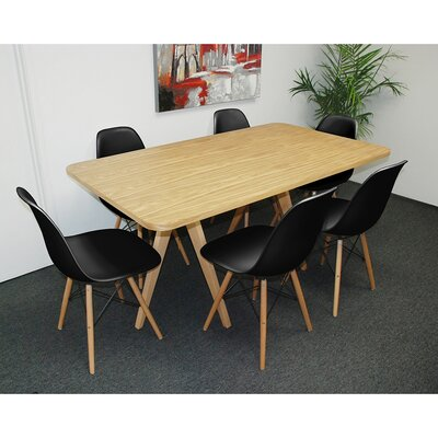 Mod Made Twin Tower 7 Piece Dining Set