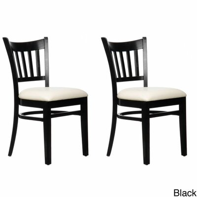 Benkel Seating Slatback Solid Beech Wood Chair (Set of 2)