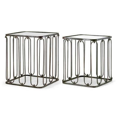 Glamour Home Decor Abana 2 Piece Nesting Tables