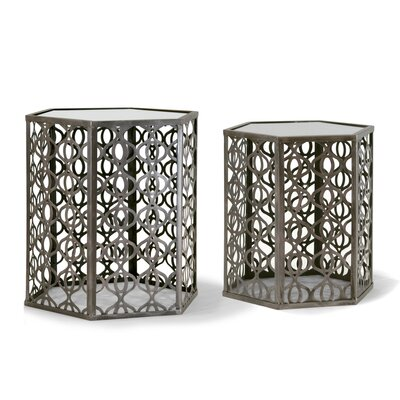 Glamour Home Decor Abrianna 2 Piece Nesting Tables