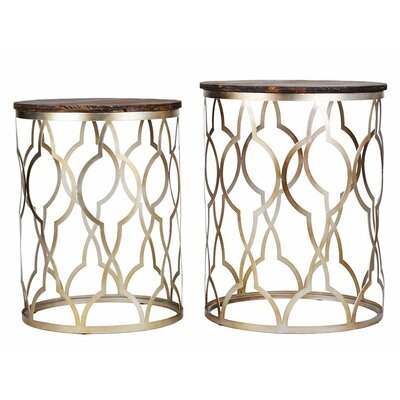 Utopia Alley Classico 2 Piece End Table Set