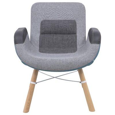 LeisureMod Milwood Block Arm Chair