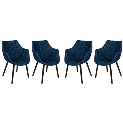 LeisureMod Milburn Armchair (Set of 4)