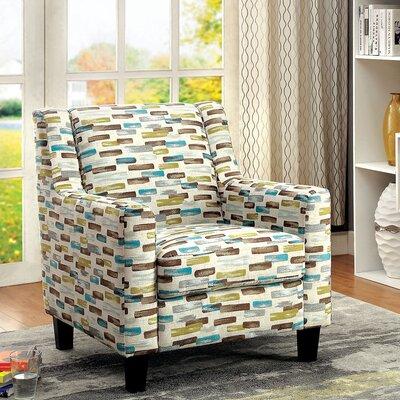 Latitude Run Hoxton Transitional Printed Arm Chair