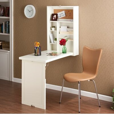 Latitude Run Turrella Wall-Mounted Floating Desk Image