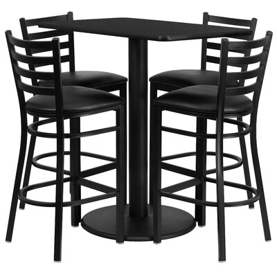 Latitude Run Deloris 5 Piece Pub Table Set