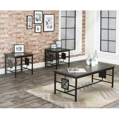 Latitude Run Rowan 3 Piece Coffee Table Set
