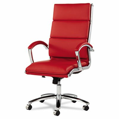 Latitude Run Virginia High-Back Slim Profile Leather Executive Chair