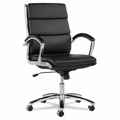 Latitude Run Virginia Mid-Back Leather Executive Chair