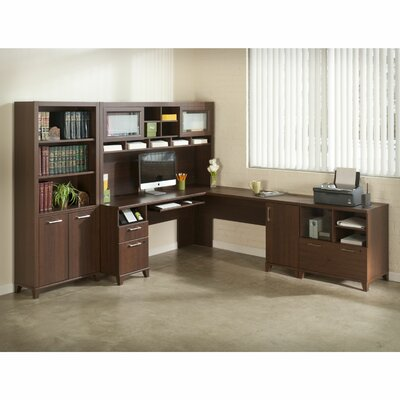 Latitude Run 4-Piece L-Shape Desk Office Suite