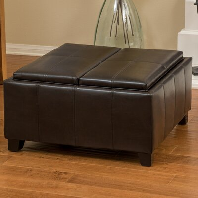 Latitude Run Brooke Leather Ottoman
