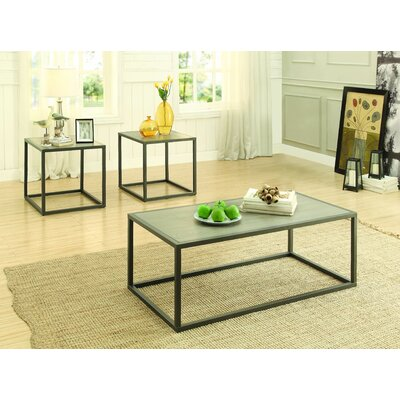 Latitude Run Cassie 3 Piece Coffee Table Set