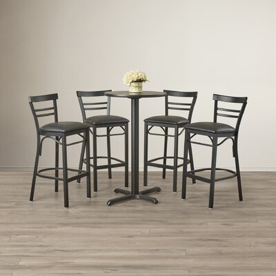 Latitude Run Brodeslavy 5 Piece Pub Table Set