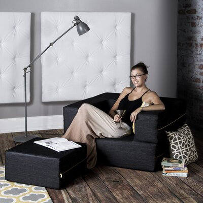 Latitude Run Colbie Convertible Sleeper Arm Chair and Ottoman
