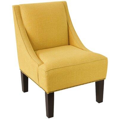 Latitude Run Andy Linen Nail Button Swoop Slipper Chair