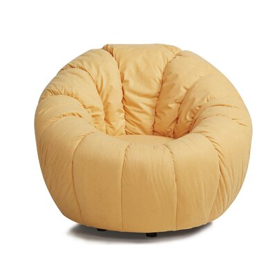 Latitude Run Lara Swivel Pumpkin Papasan Chair