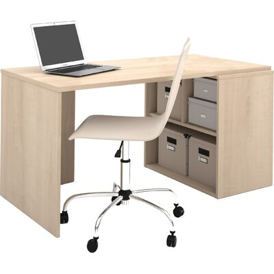Latitude Run Luther Writing Desk with Storage Unit