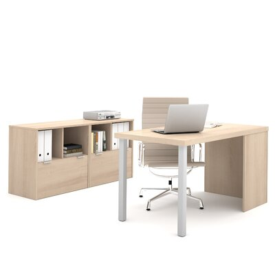 Latitude Run Luther 2 Piece U-Shape Desk Office Suite