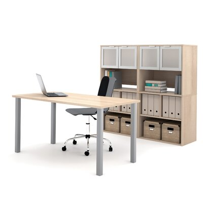 Latitude Run Luther 2 Piece Standard Desk Office Suite