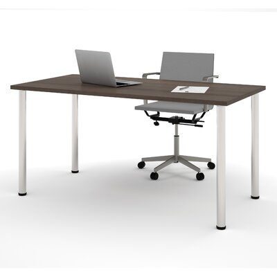 Latitude Run Sharlene Writing Desk with Round Metal Leg
