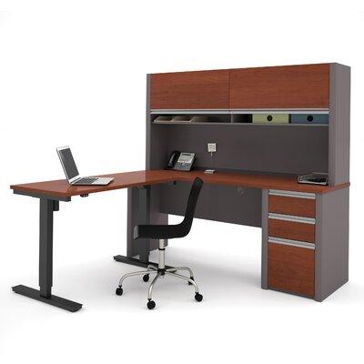 Latitude Run Karla L-Shape Desk Office Suite with Hutch