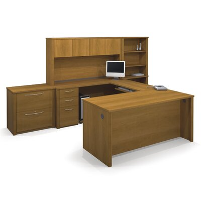 Latitude Run Witchel U-Shape Desk Office Suite with Hutch