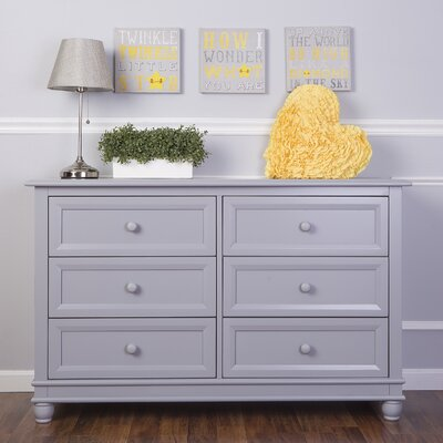 Evolur Hampton 6 Drawer Double Dresser