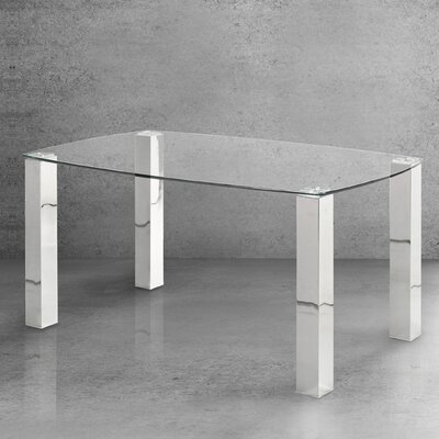 Home Gear Modern Brushed Dining Table