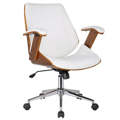 Porthos Home Noah High-Back Office Chair with Arms