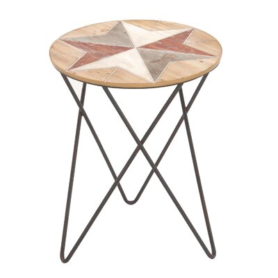 Urban Designs Rustic Round Wood End Table