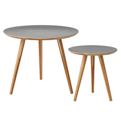 Bloomingville 2 Piece Bamboo End Table Set