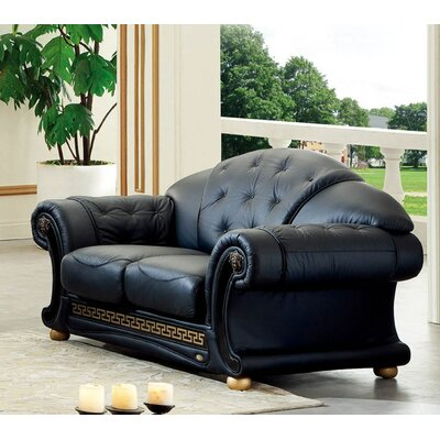 Noci Design Noci Leather Loveseat
