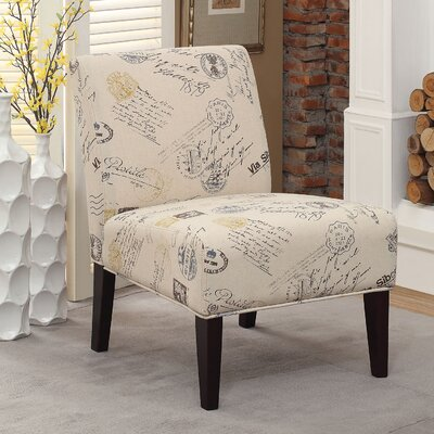 A&J Homes Studio Avalon Letter Slipper Chair