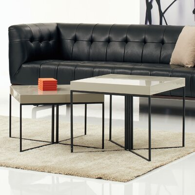 A&J Homes Studio Villa 2 Piece Coffee Table Set