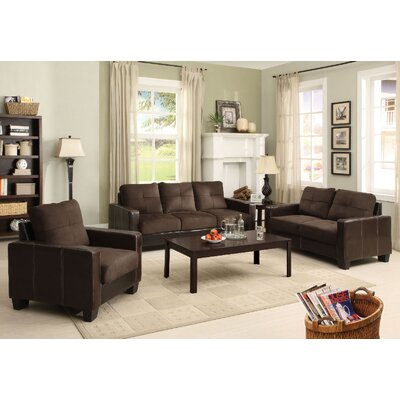 A&J Homes Studio Parma 3 Piece Sofa and Loveseat with Chair Set