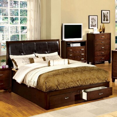 A&J Homes Studio Lucas Upholstered Platform Bed