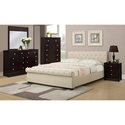 A&J Homes Studio Divonne Upholstered Sleigh Bed