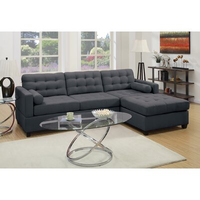 A&J Homes Studio Beverly Reversible Chaise Sectional