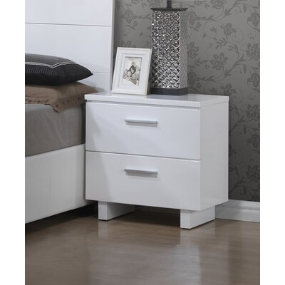A&J Homes Studio Branchville 2 Drawer Nightstand