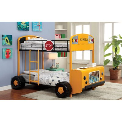 A&J Homes Studio Bus Twin Bunk Bed