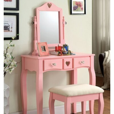 A&J Homes Studio Pipi Vanity Set with Mirror