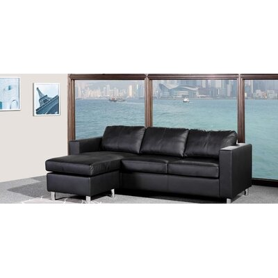 A&J Homes Studio Enrico Reversible Chaise Sectional